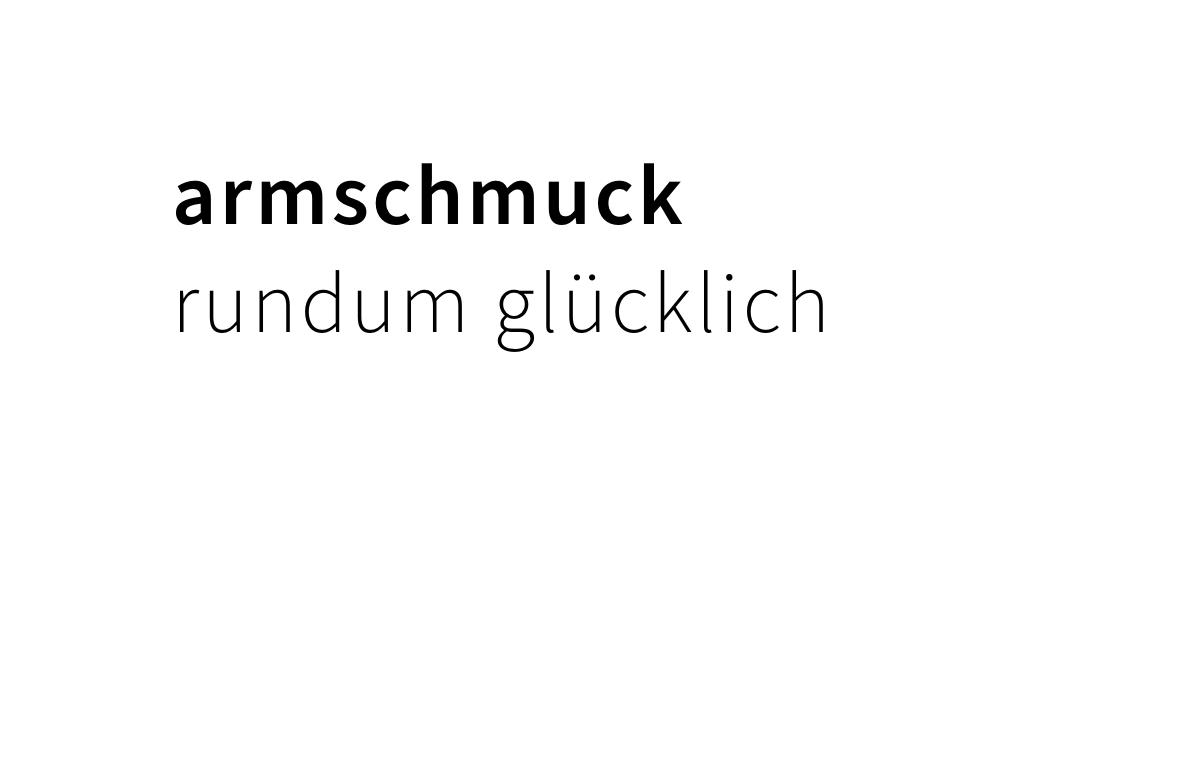 armschmuck,  rundum glücklich